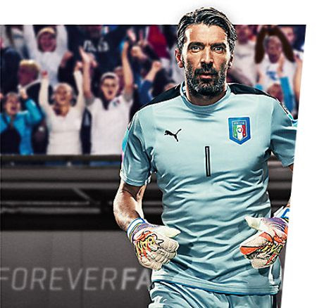 Buffon wearing the new evoPOWER POW!