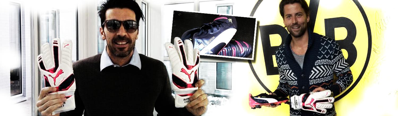Buffon e Weidenfeller presentano i nuovi guanti da portiere Puma 2015