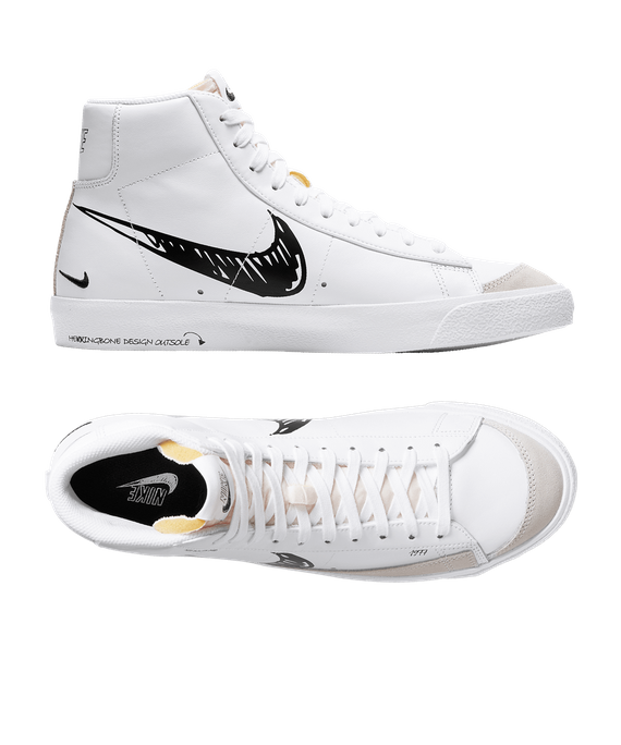 Nike Blazer Sketch Pack Mid 77 Vintage Sneaker White